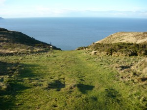 The path down Hurlstone Combe