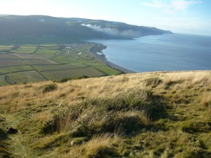 The Vale of Porlock and the shingle ridge