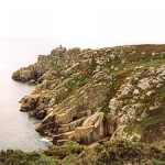 Famous spot: Treryn Dinas features the Logan Rock and an iron age cliff castle