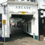 The route leads up through the old Arcade