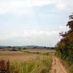 The field-edge path snakes away to Oughton Head