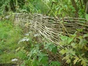 This was likely made by volunteers from locally-coppiced wood