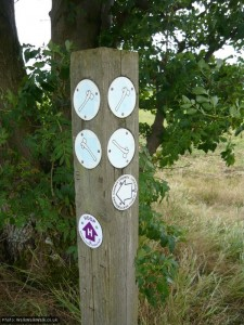 The stone axe waymarks are for the Icknield Way