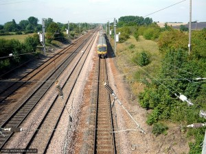 Speed records were set on this long, straight section of track