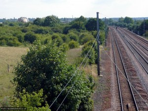 South towards Hitchin's industrial area
