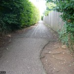 Another alternate path - this one into Priory Way
