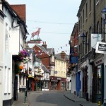 Bucklersbury is part of Hitchin's mediaeval street plan