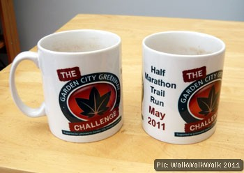 Greenway Challenge finishers' mugs