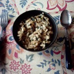 Nettle and mushroom risotto